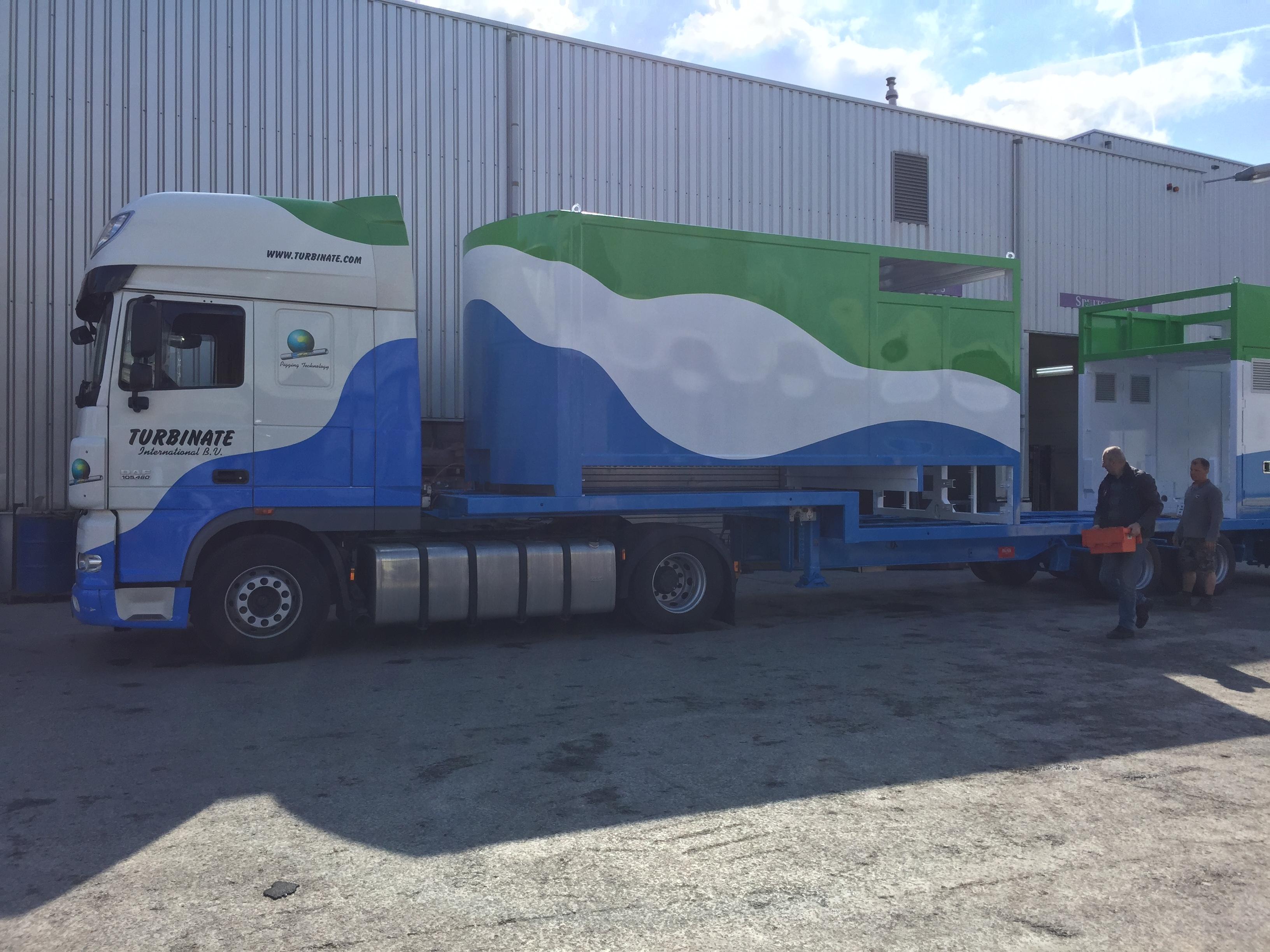 Nieuwe Mobiele Pigging unit voor Turbinate International